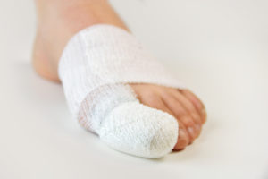 Image of a Bandaged Toe