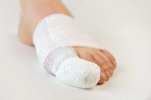 Image of a Bandaged Toe